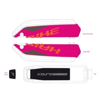 Haibike Naklejki na akumulator Bosch do XDURO Fatsix
