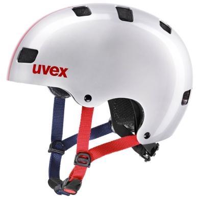 Uvex Kid 3 Kask Srebrny