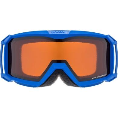 Uvex Flizz LG Gogle narciarskie junior dziecięce inkblue lasergold clear