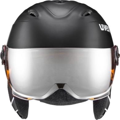 Kask narciarski snowboardowy Uvex Junior Visor Pro czarny