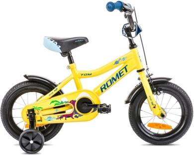 Romet Tom Rower dziecięcy 12 cali żółto niebieski