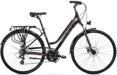 Rower Romet Gazela 2 Czarno Różowy