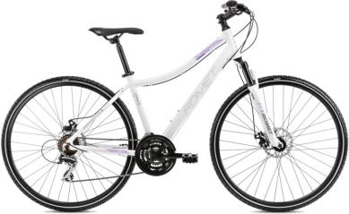 Rower Romet Orkan 1 Biało Fioletowy