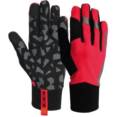 Rękawiczki Wowow Early Fog Fluo Czerwone
