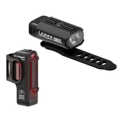 Zestaw Lampek Lezyne Hecto Drive 500XL + Strip 150Lm USB