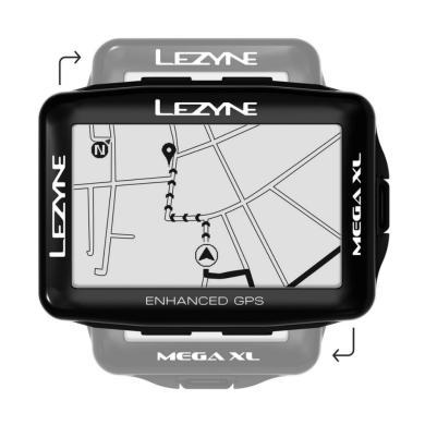 Licznik Rowerowy Lezyne Mega XL GPS HRSC Loaded