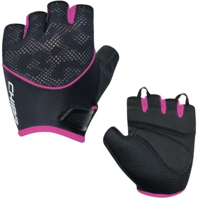 Rękawiczki Chiba Lady Gel czarno różowe