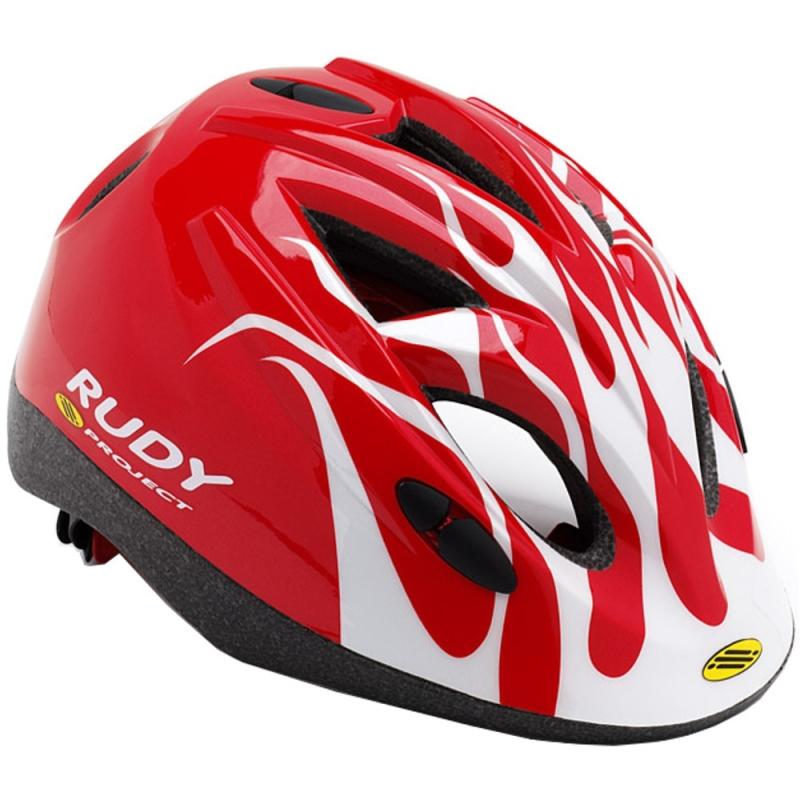 Rudy Project Jockey Kask rowerowy Dziecięcy Młodzieżowy Red White