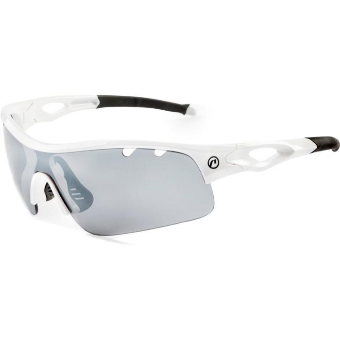 Accent Storm Okulary rowerowe białe szara przezroczysta soczewka
