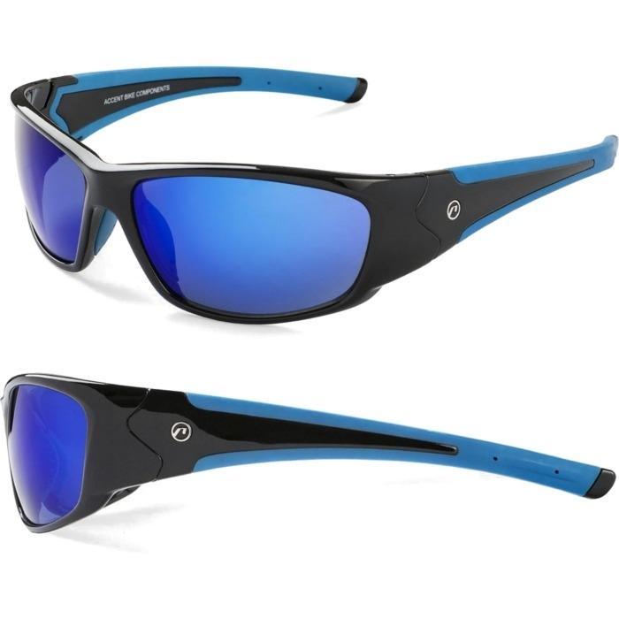 Accent  Freak Okulary rowerowe czarno niebieskie