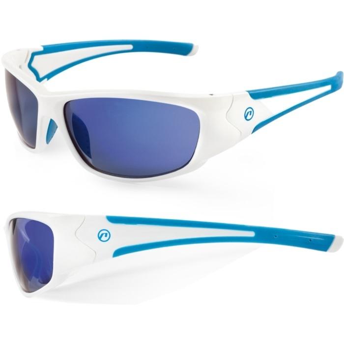 Accent Freak Okulary rowerowe biało niebieskie
