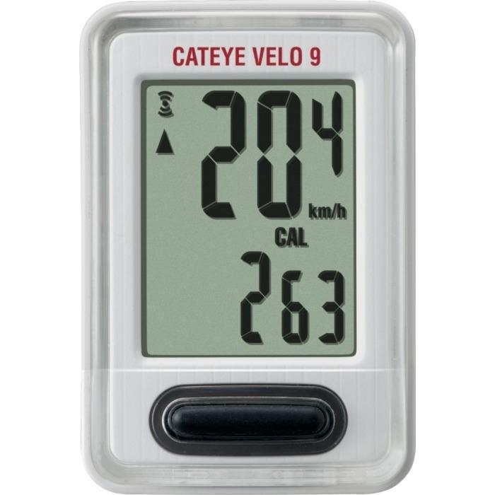 Cateye Velo 9 CC VL820 Licznik rowerowy 9 funkcyjny biały