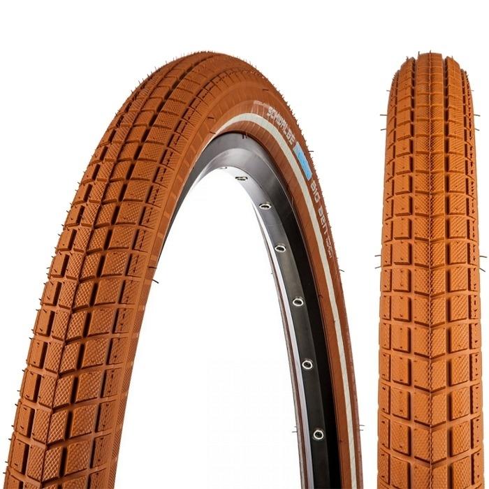 Schwalbe Big Ben 26 x 2.15 KG SBC TS Opona rowerowa drutowa brązowa Reflex