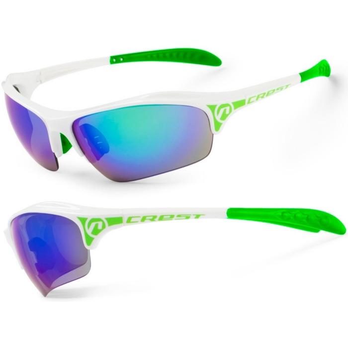 Accent Crest Okulary rowerowe białe zielone szaro czarno zielona soczewka