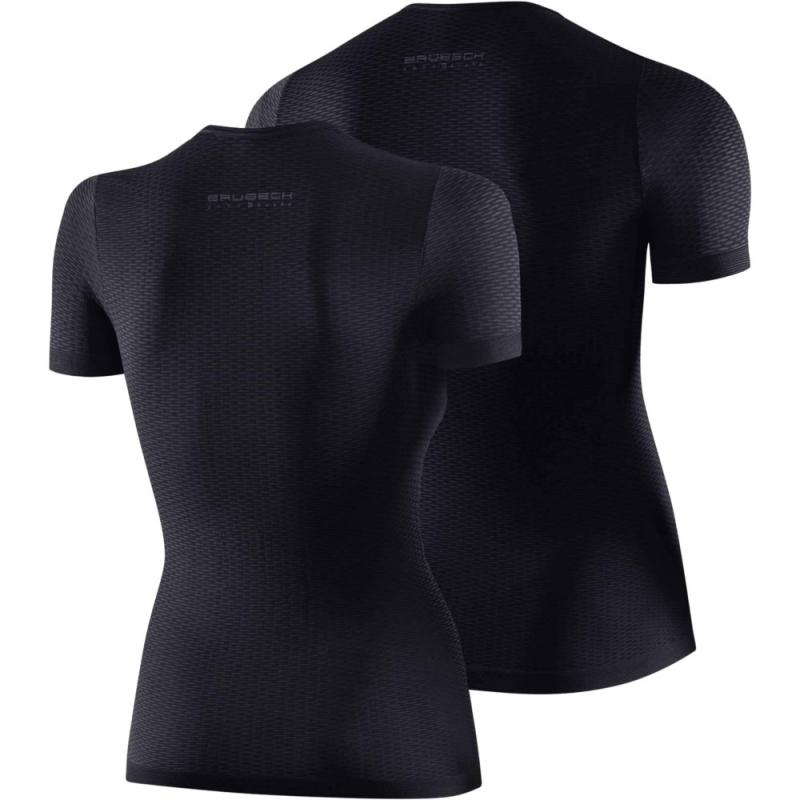 Brubeck Koszulka rowerowa termoaktywna z krótkim rękawem grafitowa