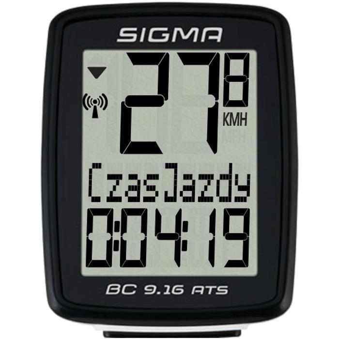 Sigma BC 9.16 ATS Licznik rowerowy bezprzewodowy 10 funkcji