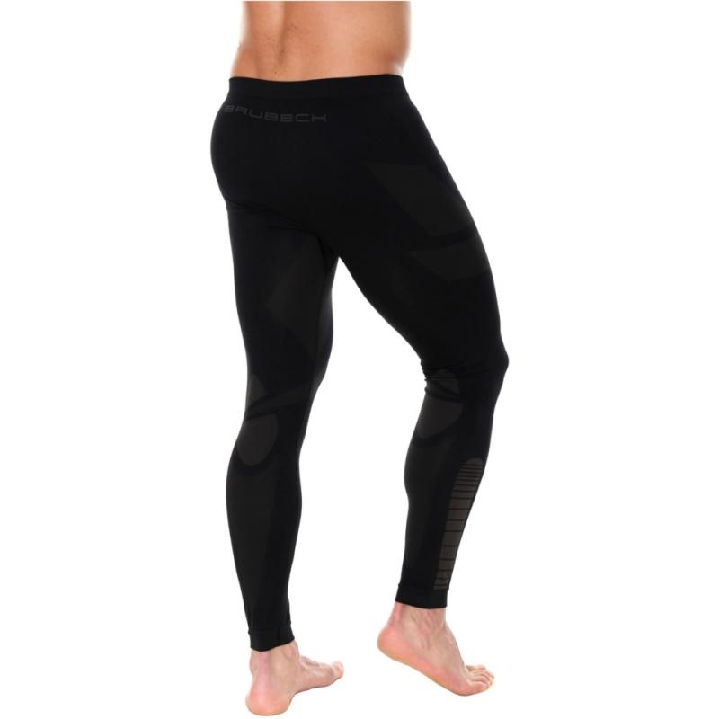 Brubeck Dry Spodnie termoaktywne męskie czarno grafitowe