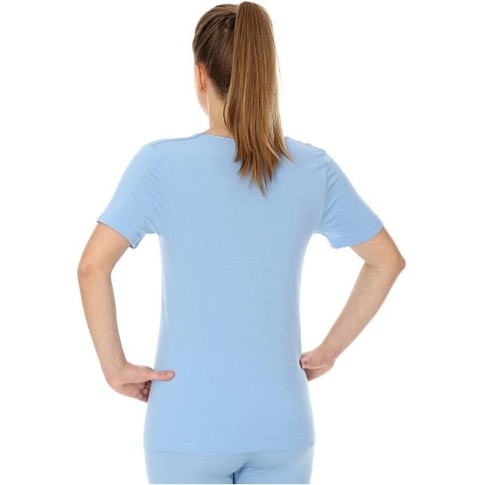 Brubeck Comfort Night Koszulka nocna damska krótki rękaw błękitna