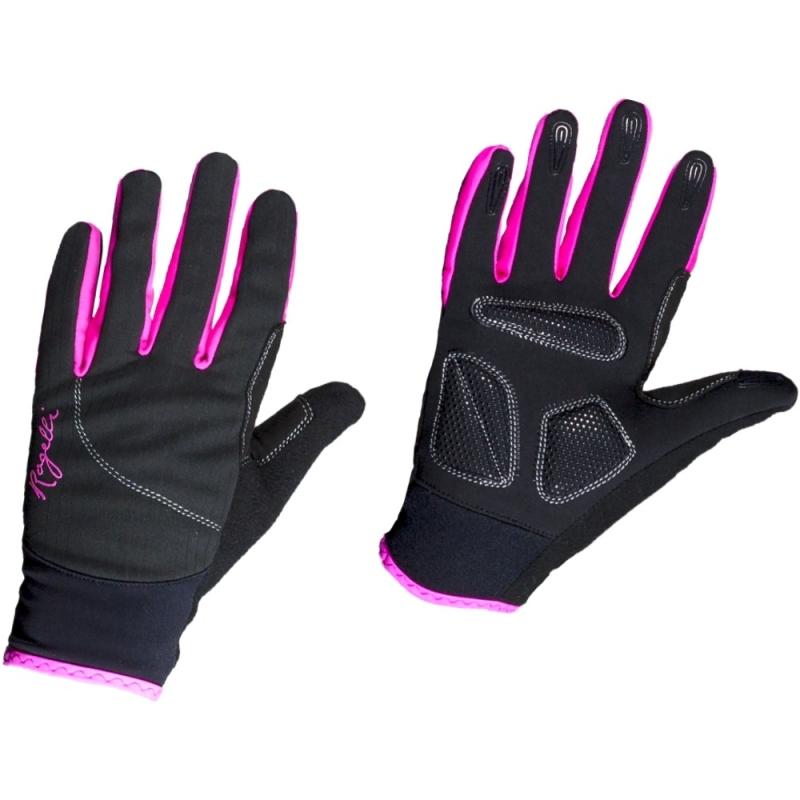 Rogelli Fabel Rękawiczki rowerowe damskie czarno fioletowe