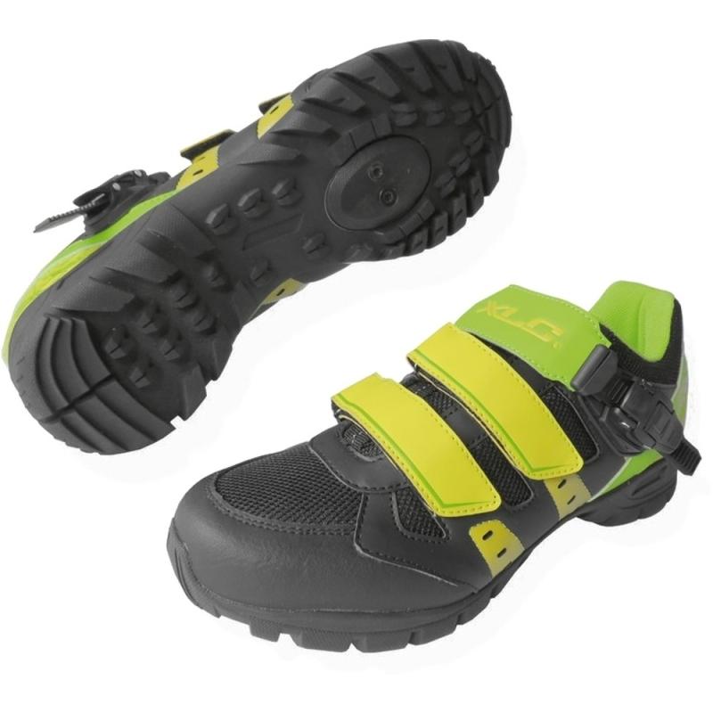 XLC CB M09 Buty MTB SPD zielono czarno żółte