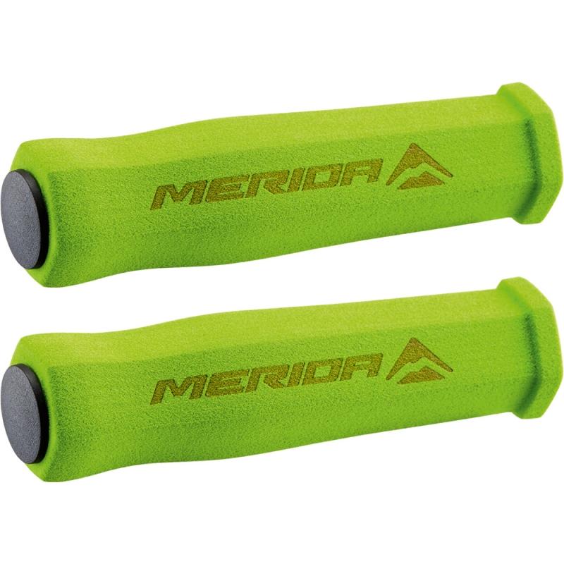 Merida GP-MD031 Chwyty kierownicy piankowe sześciokątne zielone + korki