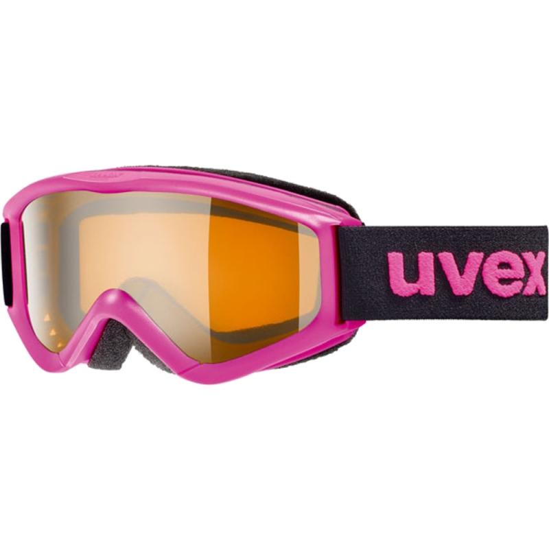 Uvex Speedy Pro Gogle narciarskie junior dziecięce pink lasergold