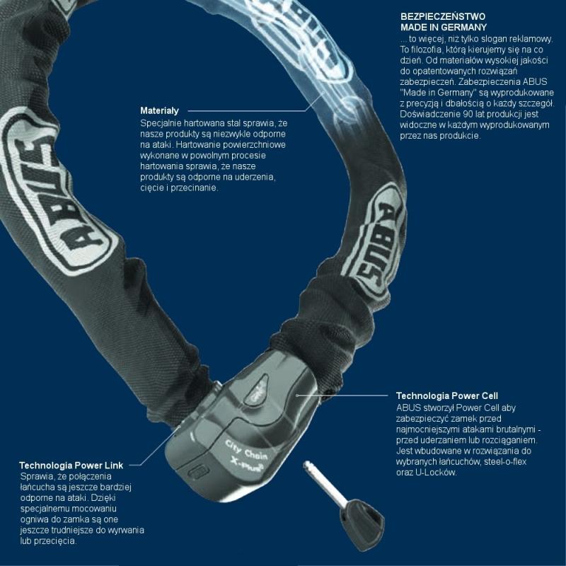 Abus Steel O Chain 5805K Zapięcie rowerowe łańcuch czarny