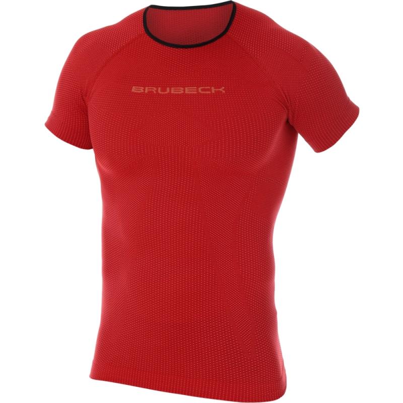 Brubeck 3D Run PRO Koszulka męska z krótkim rękawem czerwona