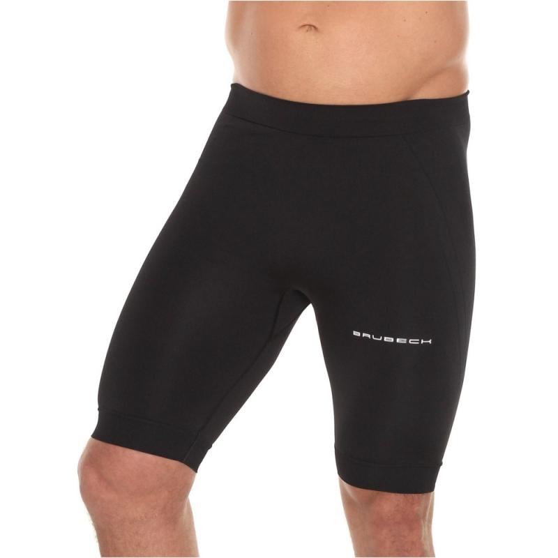 Brubeck Running Force Spodnie do biegania 1/2 czarne