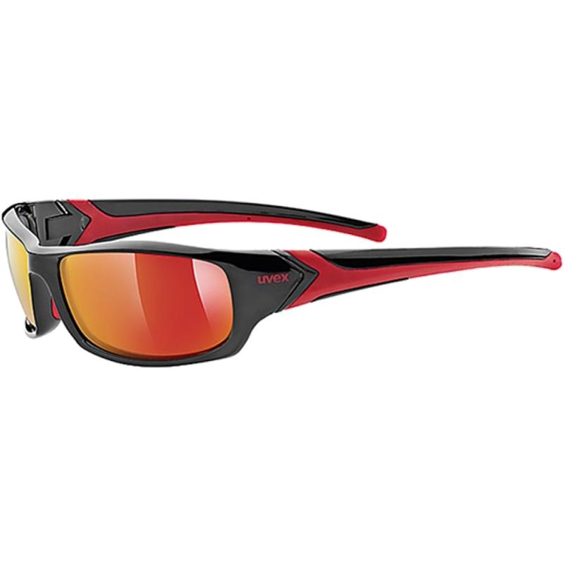 Uvex Sportstyle 211 Okulary sportowe black red mirror red
