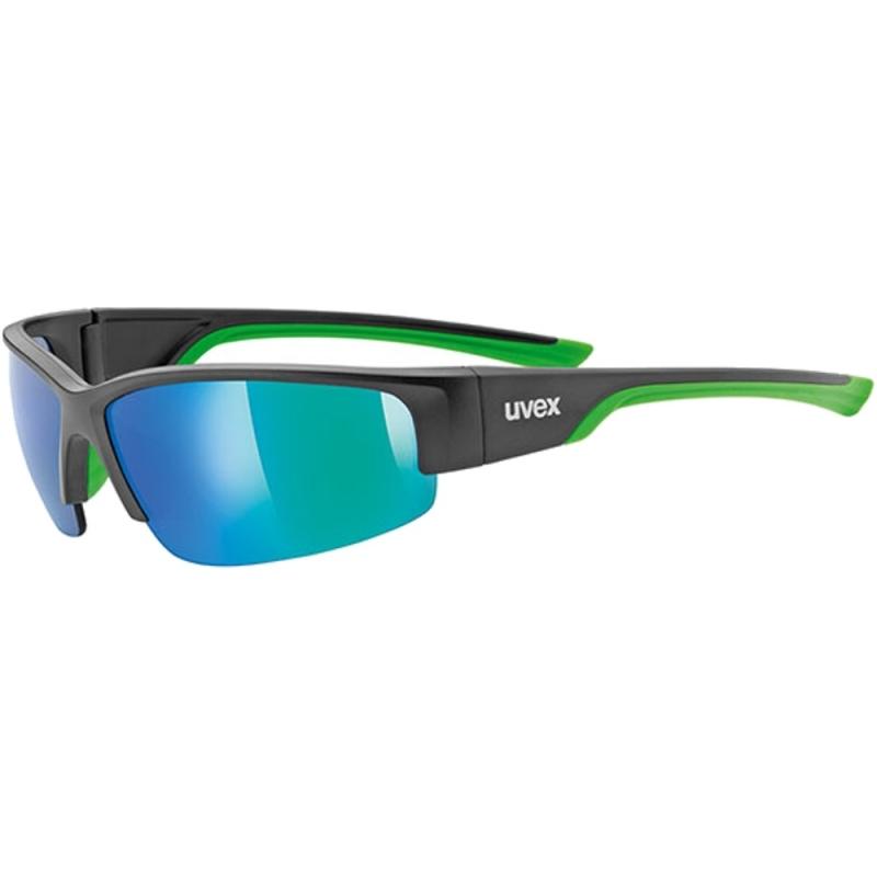 Uvex Sportstyle 215 Okulary sportowe black mat green mirror green