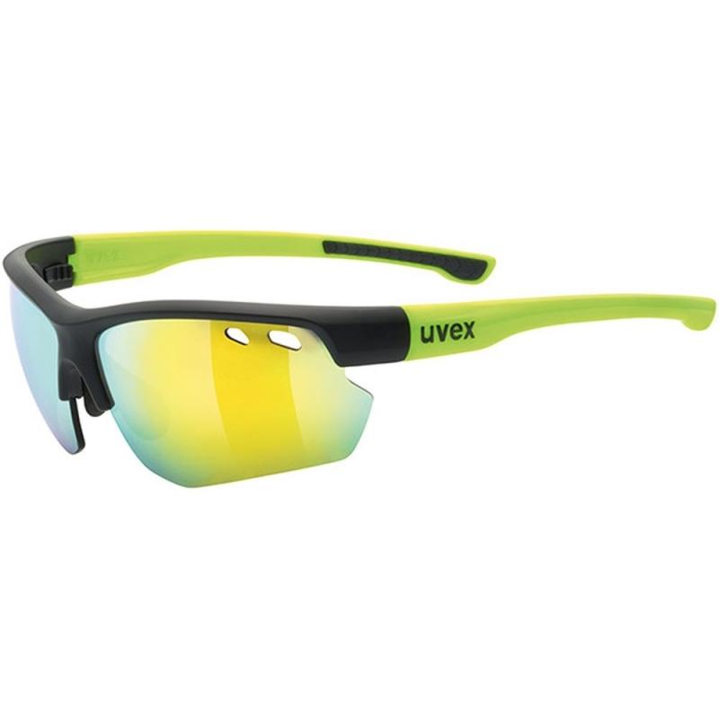 Uvex Sportstyle 115 Okulary sportowe z wymiennymi szkłami black mat yellow