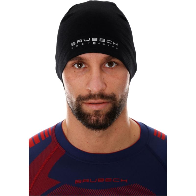 Brubeck Active Czapka wełniana merino unisex czarna