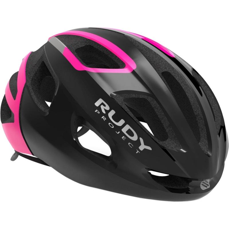 Rudy Project Strym Kask szosowy Black pink fluo shiny