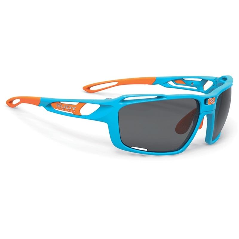Rudy Project Sintryx RP Optics Okulary rowerowe triathlon MTB niebiesko pomarańczowe