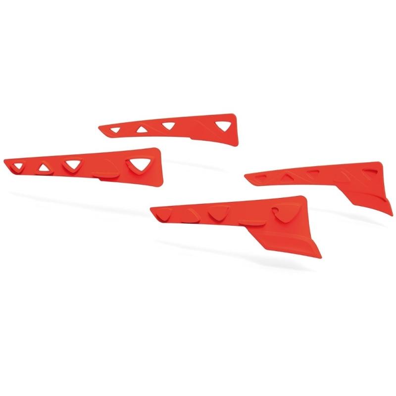 Rudy Project Peripheral Shields Set Zestaw gumowych wstawek bocznych red fluo