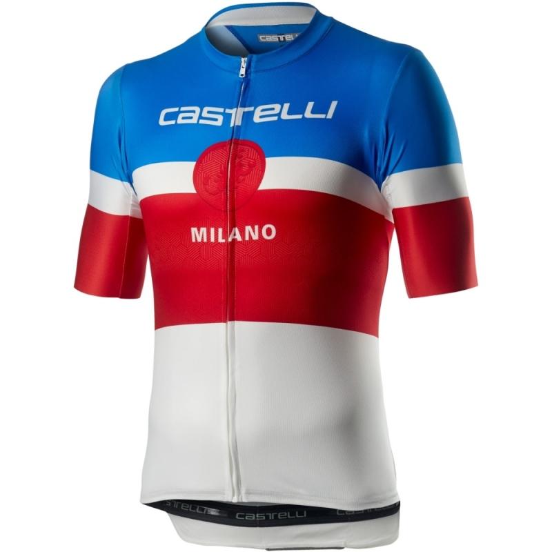 Castelli Milano Koszulka rowerowa niebiesko czerwono biała
