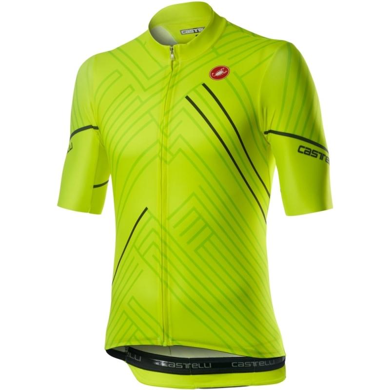 Castelli Passo Koszulka rowerowa żółta fluo