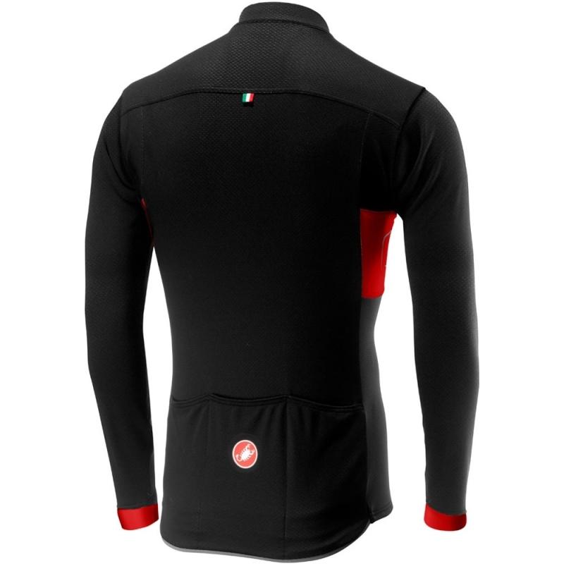 Castelli Prologo VI Bluza rowerowa czarno czerwona