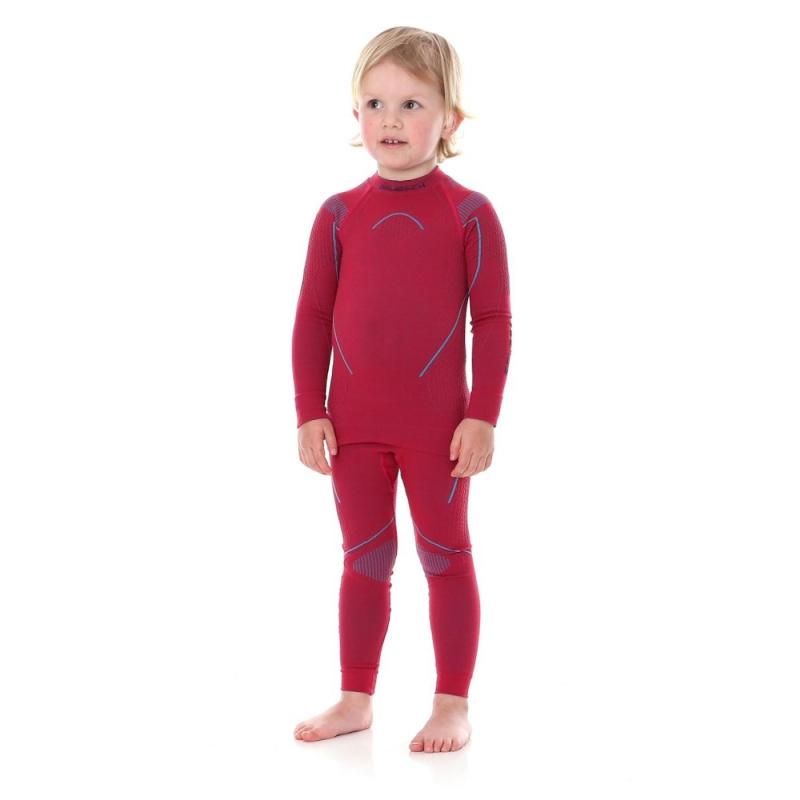 Brubeck Thermo kids bluza dziewczęca z długim rękawem rubinowa