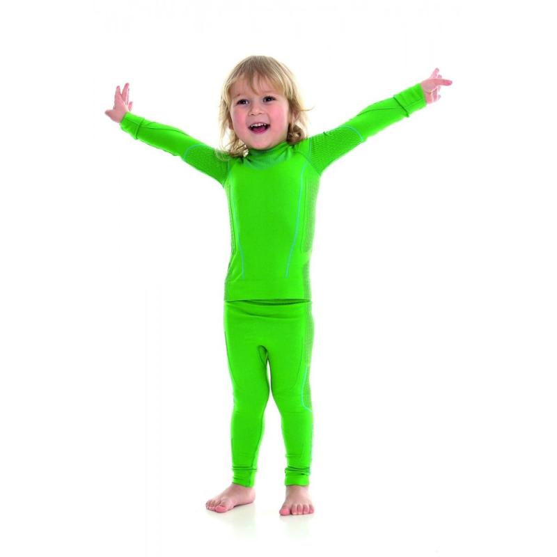 Brubeck Thermo bluza kids męska z długim rękawem zielona