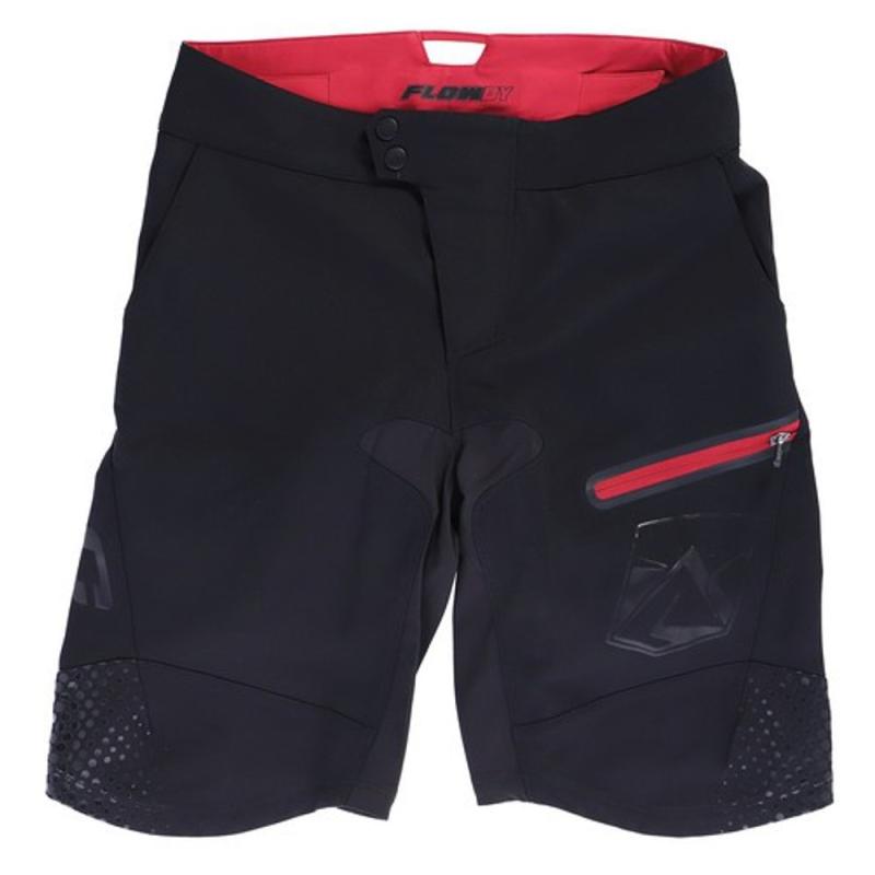 XLC TR S26 Flowby szorty rowerowe damskie enduro z wkładką czarno czerwone