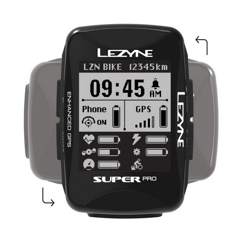 Lezyne Super Pro GPS Smart Loaded Licznik rowerowy + lampka