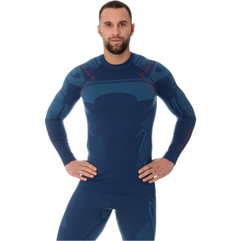Brubeck Thermo Męska Koszulka termoaktywna jeansowa