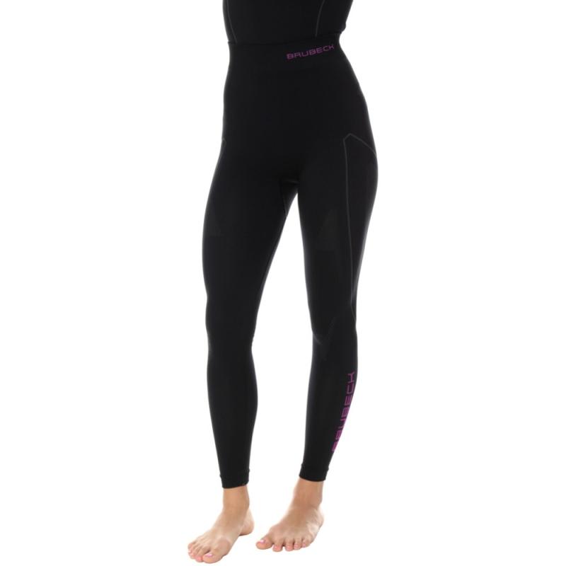 Brubeck Thermo Spodnie termoaktywne damskie czarno różowe