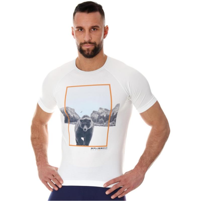 Brubeck City Air Termoaktywna Koszulka męska biała