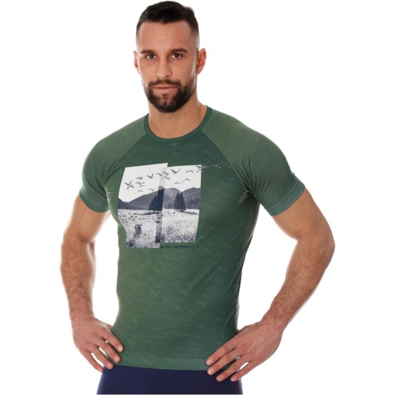 Brubeck City Air Termoaktywna Koszulka męska zielona