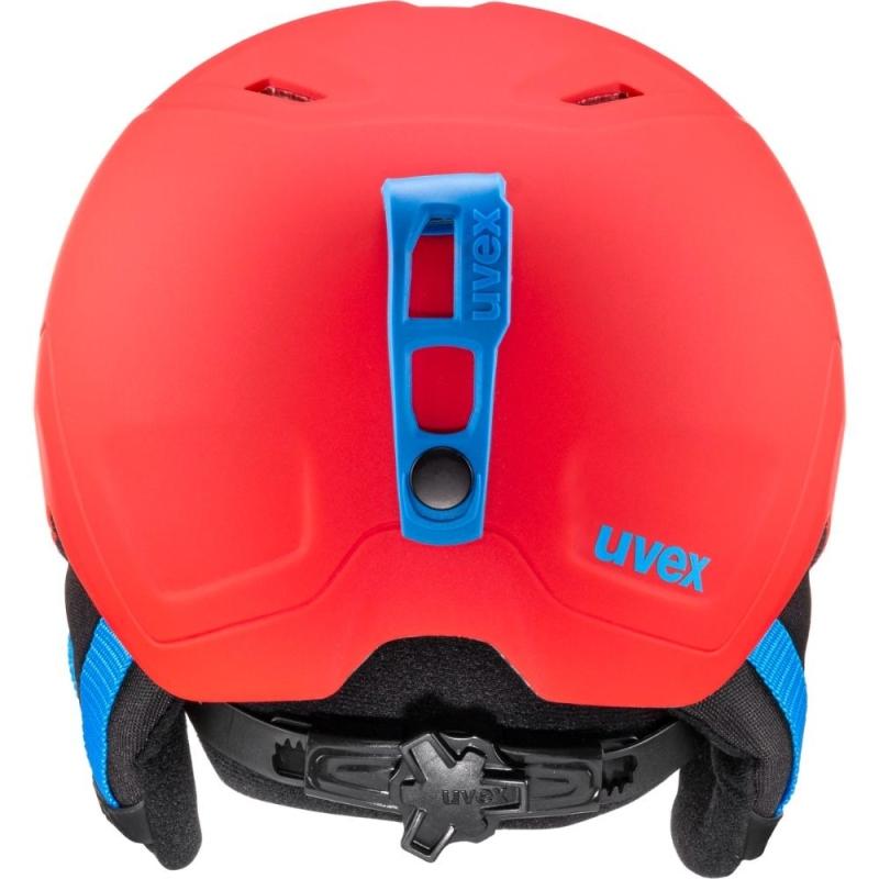 Uvex Heyya Pro Dziecięcy kask narciarski snowboard red cyan mat