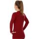 Brubeck 3D Run PRO Koszulka damska z długim rękawem wiśniowa