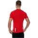 Brubeck Athletic Koszulka męska z krótkim rękawem ciemnoczerwona